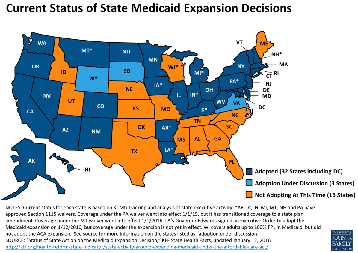 Image result for obama medicaid expansion status