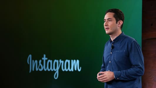 Instagram CEO Kevin Systrom speaks during a press event at Facebook headquarters on June 20, 2013 in Menlo Park, California.