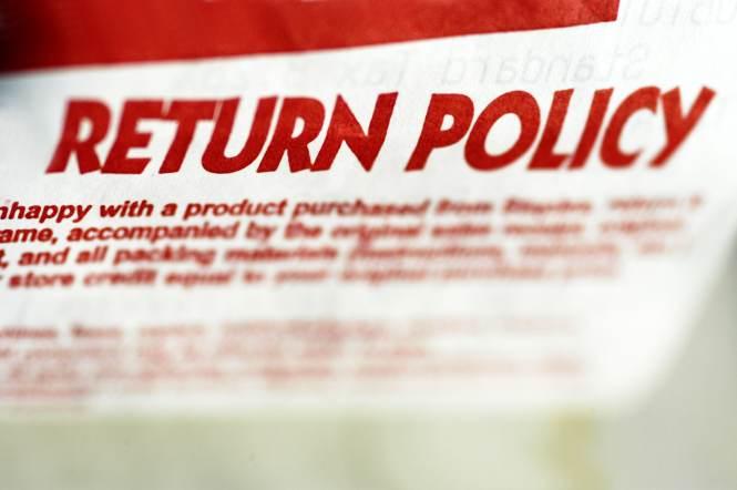 Return Policies Now Er