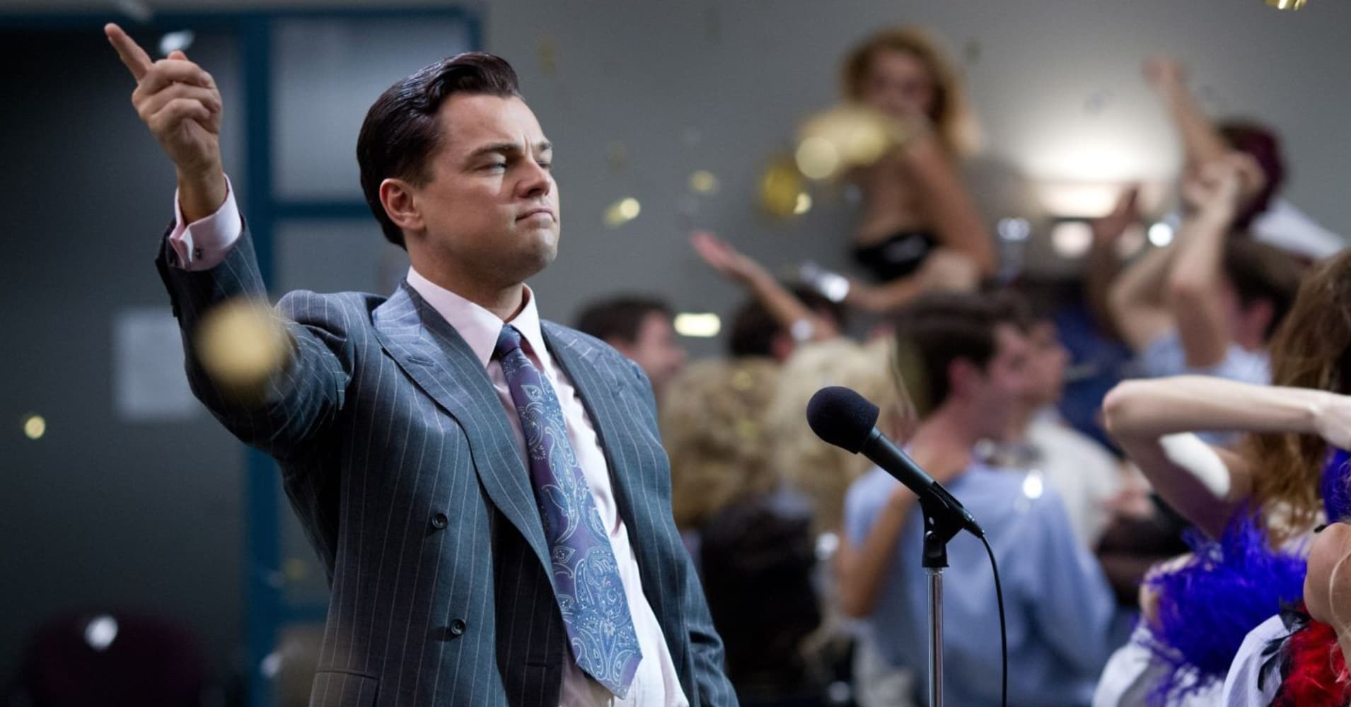 """A scene from """"The Wolf of Wall Street"""" starring Leonardo DiCaprio"""