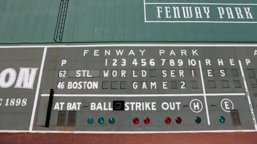 Fenway Monster Scoreboard Green