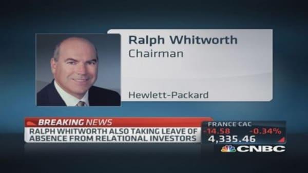 Hewlett-Packard Chair Ralph Whitworth resigns, citing ...