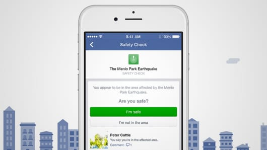Facebook launches Safety Check to help people notify each other that they are safe after a disaster.