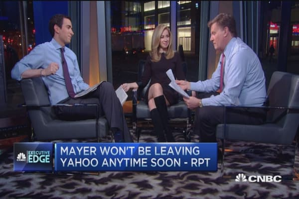 Mayer not leaving Yahoo anytime soon: Report