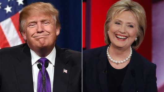 Image result for CLINTON TRUMP PHOTO