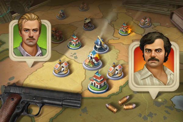 A snapshot from the Narcos game from Ftxgames
