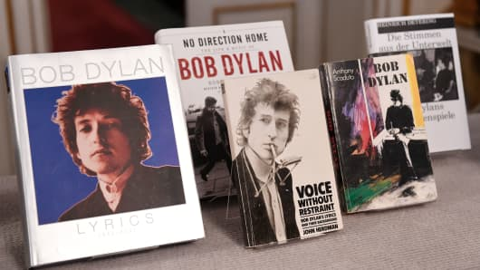 Image result for Bob Dylan and the Nobel Prize