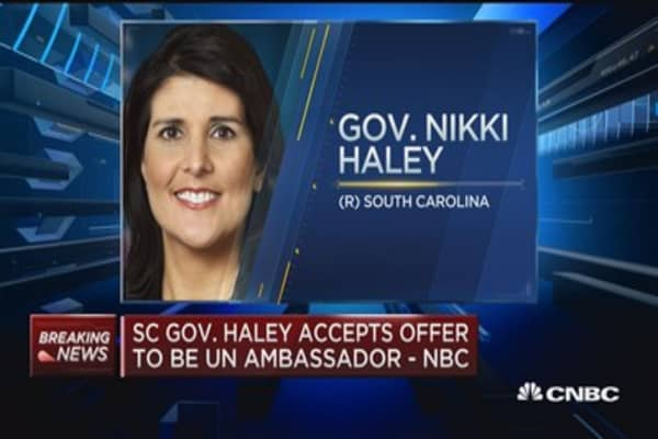 Image result for photo of nikki haley at un