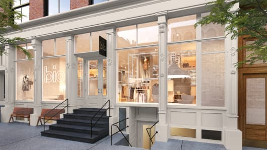 A rendering of bio, a community of retail shops opening in New York City in 2017.
