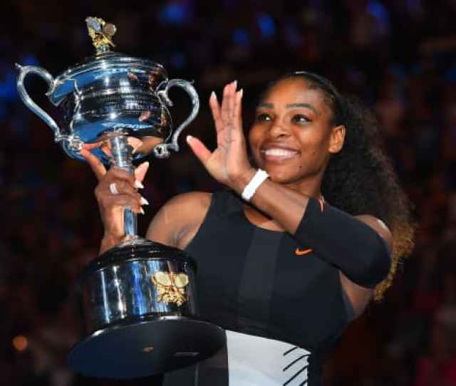 Serena Williams Of The United States Poses With The Daphne Akhurst Trophy After Winning The Womens