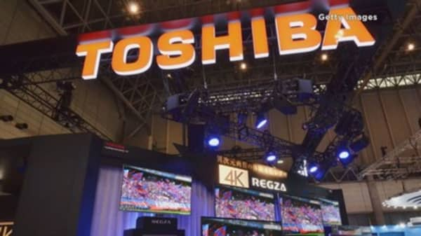 Japan's Toshiba shares tumble after reports of potential ...