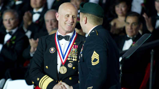 Image result for photo of trump and admiral harward