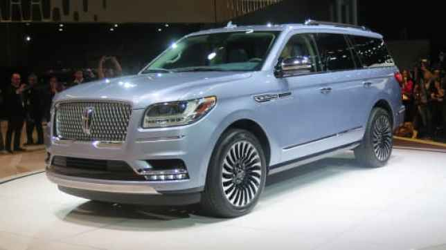 A Lincoln Navigator on display at the New York Auto Show on April 12, 2017.