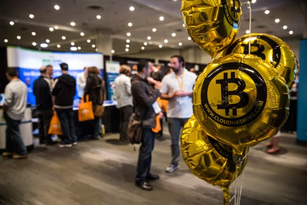 People attend a Bitcoin conference in New York. (File photo).