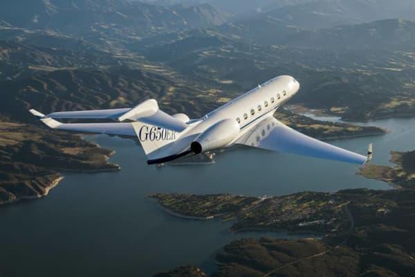 Gulfstream G-650ER jet.