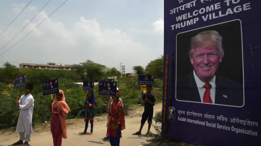 A rural Indian settlement with little electricity or running water renamed itself 'Trump Village' on June 23, 2017 in an unusual gesture to the American president ahead of Prime Minister Narendra Modi's trip to Washington.