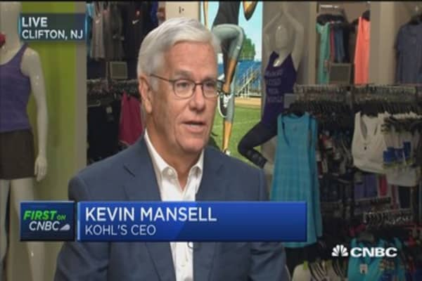 Kohl's CEO Kevin Mansell: Our stores are one of our ...