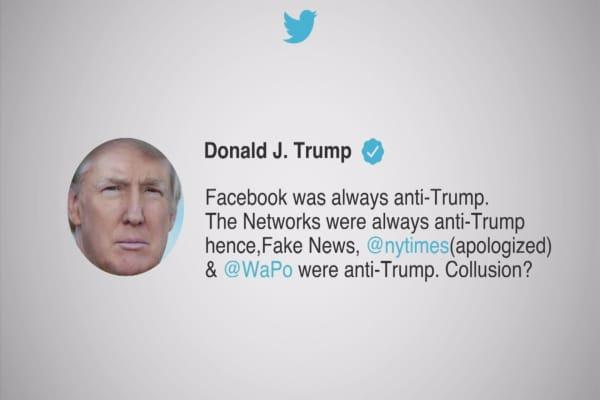 Trump tweet: Facebook is fake news, anti-Trump
