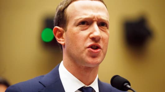 Facebook CEO Mark Zuckerberg testifies before a House Energy and Commerce Committee hearing regarding the company's use and protection of user data on Capitol Hill in Washington, April 11, 2018.
