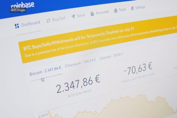 Échange de crypto-monnaie Coinbase essaie d'attirer de grands investisseurs institutionnels dans le marché volatil