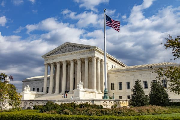 U.S. Supreme Court building in Washington D.C.