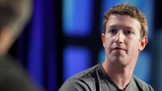 Mark Zuckerberg, director ejecutivo de Facebook Inc.