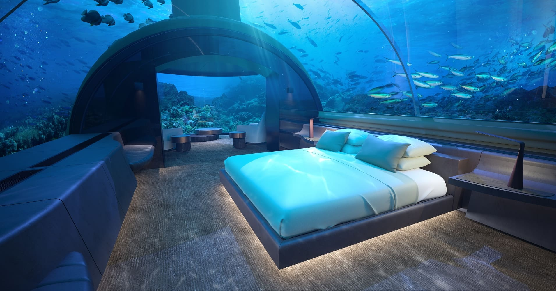 Photos Worlds First Glass Underwater Hotel Suite At