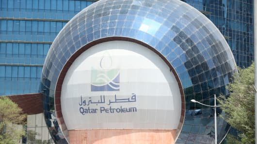 A view of the headquarters of Qatar Petroleum in Doha, Qatar on July 4, 2017.