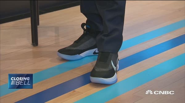 Nike unveils first 'smart,' self-lacing shoe