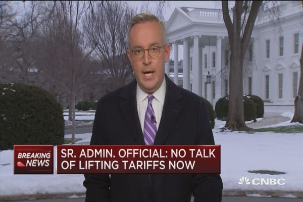 Senior Trump administration official: No talk of lifting ...