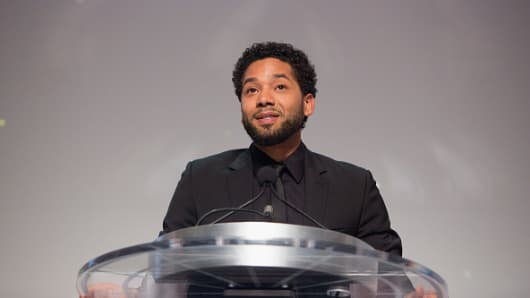 Jussie Smollett attends the gala of the Thurgood Marshall College Fund on October 23, 2017 in Washington, DC.