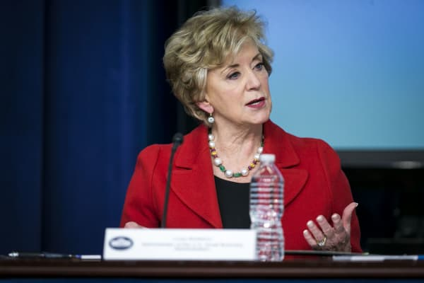 Linda McMahon to resign as Small Business Administration head