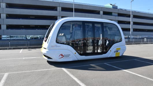 Initially, the autonomous shuttle bus will make its trips without passengers.