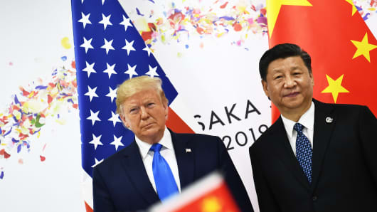 Chinese President Xi Jinping and President Donald Trump at the G-20 Summit in Osaka on June 29, 2019.