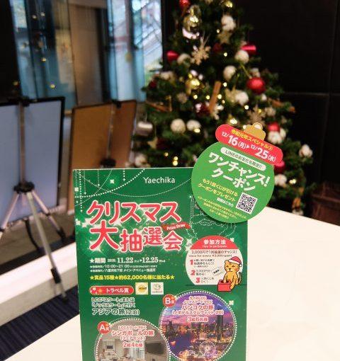 クリスマス大抽選会@ヤエチカ 開催中~‼‼☆お花のお話「C'mon A Kamon」☆レッツEnjoy講座 ゆめ講座『台湾の特別な料理 焼きビーフン』☆今晩19:00から開催!『東京エキマチライブ』