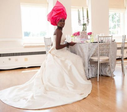 African Vintage Wedding Dress