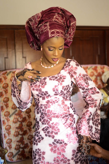 African-bride-in-colorful-wedding-gown.11 African Wedding Dress-20 Outfits to Wear for an African Wedding