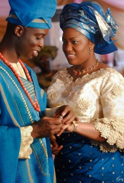 african wedding colorful dress