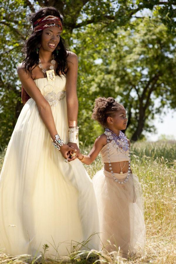 African Wedding Dress Cream Headwrap