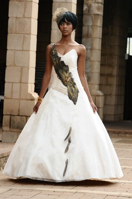 37 gorgeous african wedding dresses for All white wedding dress