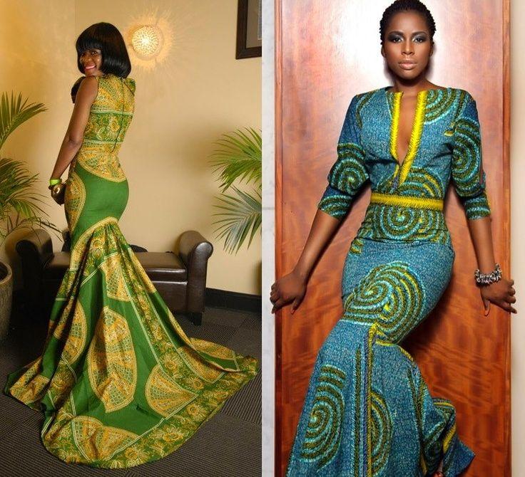 Bon African Wedding Dress Print Mix
