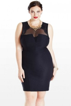 bodycon plus size evening dress