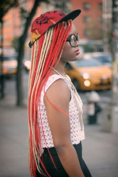 colorful micro braids