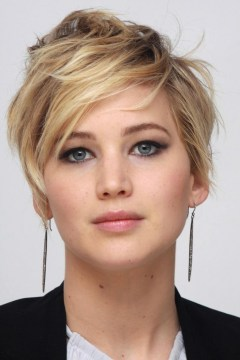 jennifer lawrence short layered hair