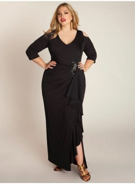 plus size asymmetrical maxi dress