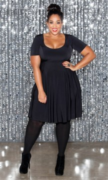 plus size skater dress sleeves