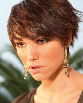 short layered brown hair
