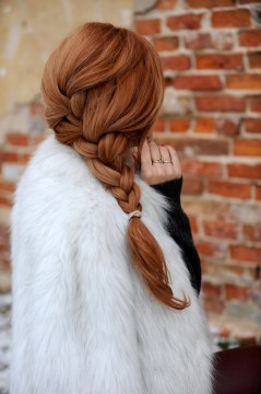 side french braid red hair