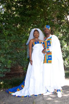 traditional blue african wedding dress