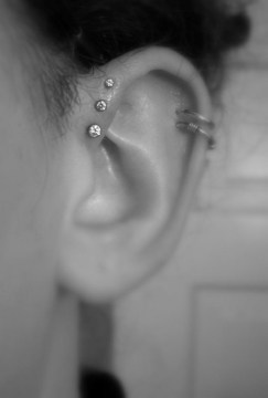 double helix piercing